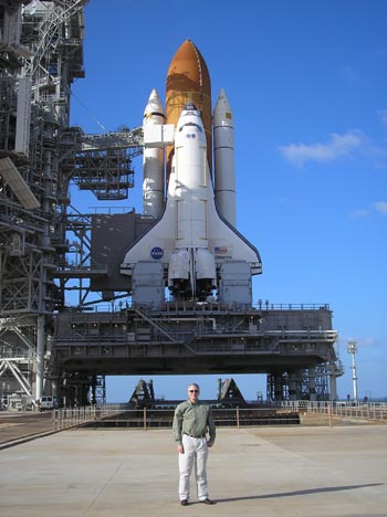 Dave Shemwell at Space Shuttle Launch Pad