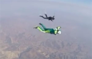 Skydive without a parachute